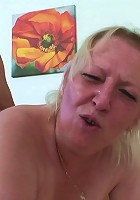 She's a mature cock hound and she's filled up by his dick much to her delight