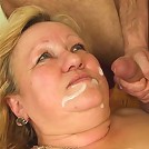 Naughty old slut with a crazy desire for cock is fucked by a much younger horny man