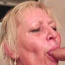 The young men show up to repair something for her and get to fuck the hot granny hard