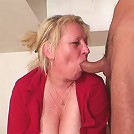 The guys show up to repair her washing machine and gives her granny pussy a pounding