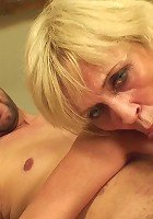 The granny has delectable hardcore sex with two young men that want her body badly