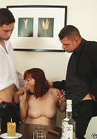 She loses at strip poker and the guys play with her sexy body before fucking her naughty hole