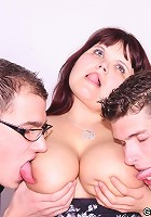 She needs their hard dicks in her wet mature pussy and her hot mouth and they make it happen