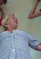 She is a scorching hot mature slut and she is taking dick stick from two guys