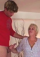 The blonde mature is a cock hungry hottie and she wants them to pump her steamy pussy