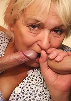 Old broad with a soft body is supposed to clean the apartment but they just want to fuck