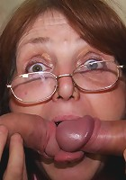 The guys come in for a job and they end up double team fucking this nasty mature slut