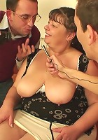 The double team features a mature slut getting boned by two hard dicks at once