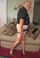 kinky amateur granny showing her goodies