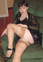 lingerie stockings hi heels