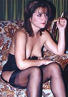 milf in brown stockings