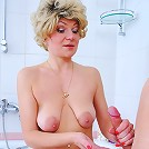 Naked wet milf talked into getting down