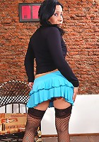 Flirty Miryam loves pretending shy and innocent
