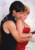 Chubby mature and her lover
