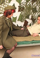 Military nurse and her patient