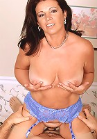 Asian milf loves to play with his big cock