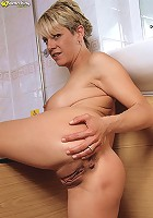 Busty milf airforce babe rides on a huge cock
