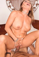Hot cougar taking young hard cock