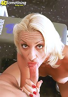 Blonde MILF loves to suck cock