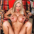Big titted milf pleasures herself