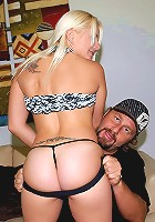 Big hot ass fucking blonde get drilled hard up her tight box after getting picked up by the gardner