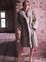 Fur coat mature