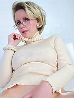 White lingerie milf