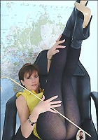 Pantyhosed mistress