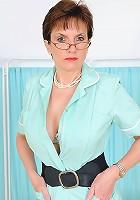 Hot uniformed mature