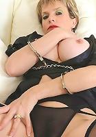 Cuffed in lingerie