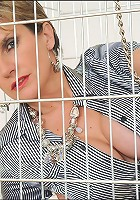 Cuffed caged mature