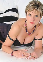 Black lingerie milf