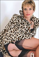 Coat and nylons milf