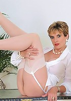 White nylon panties