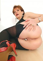 Nylons mature tease