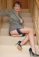 Huge tits nylons mature