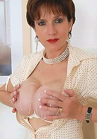 Cum covered milf tits