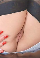 Pussy spreading milf