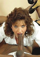 Lady sonia gags on cock