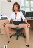 Pantyhose office milf