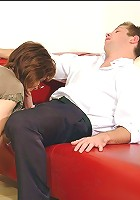 Mature blows office boy