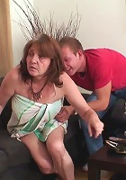 Granny showers and he needs her body
